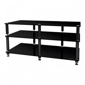 NORSTONE BERGEN AV 2 STAND MOBILE AUDIO VIDEO 3 RIPIANI NERO