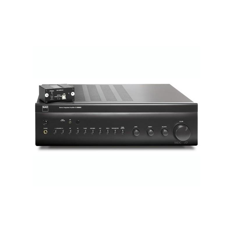 Amplificatore Integrato NAD con MDC DAC USB : tecnologia Power Drive, 2x80w RMS su 8 ohm